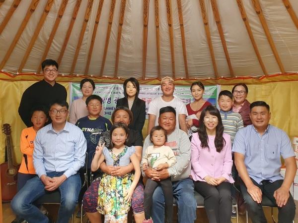 몽기총은 광명광산교회의 후원으로 몽골 에르데넷 예수사랑 교회와 예수사랑의 집을 건축하고 봉헌예배를 드렸다.