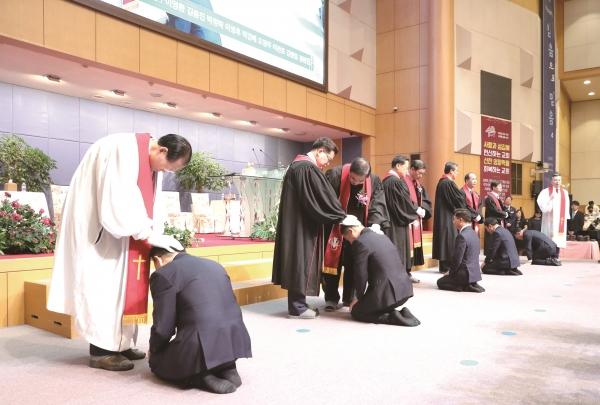 한밭제일장로교회가 창립 40주년을 맞아 지난 14일 김종진 담임목사 위임식과 장로 등 임직식을 진행했다.