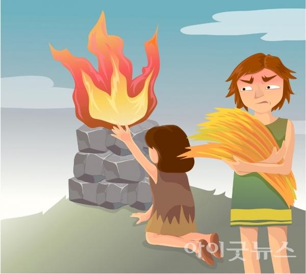 번제는 이스라엘의 5대 제사 가운데 하나로 제물을 태워 드리는 제사 방법이다. 가인과 아벨도 소산을 태워 제사를 드렸다.